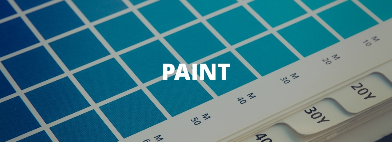 Paint with paint swatches in background