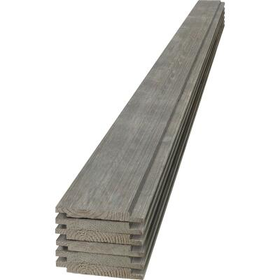 UFP-Edge 6 In. W x 8 Ft. L x 1 In. Thick Gray Wood Rustic Shiplap Board (6-Pack)