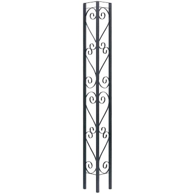 Gilpin Windsor 10-1/2 In. x 8 Ft. Wrought Iron Railing Corner Iron Ornamental Column