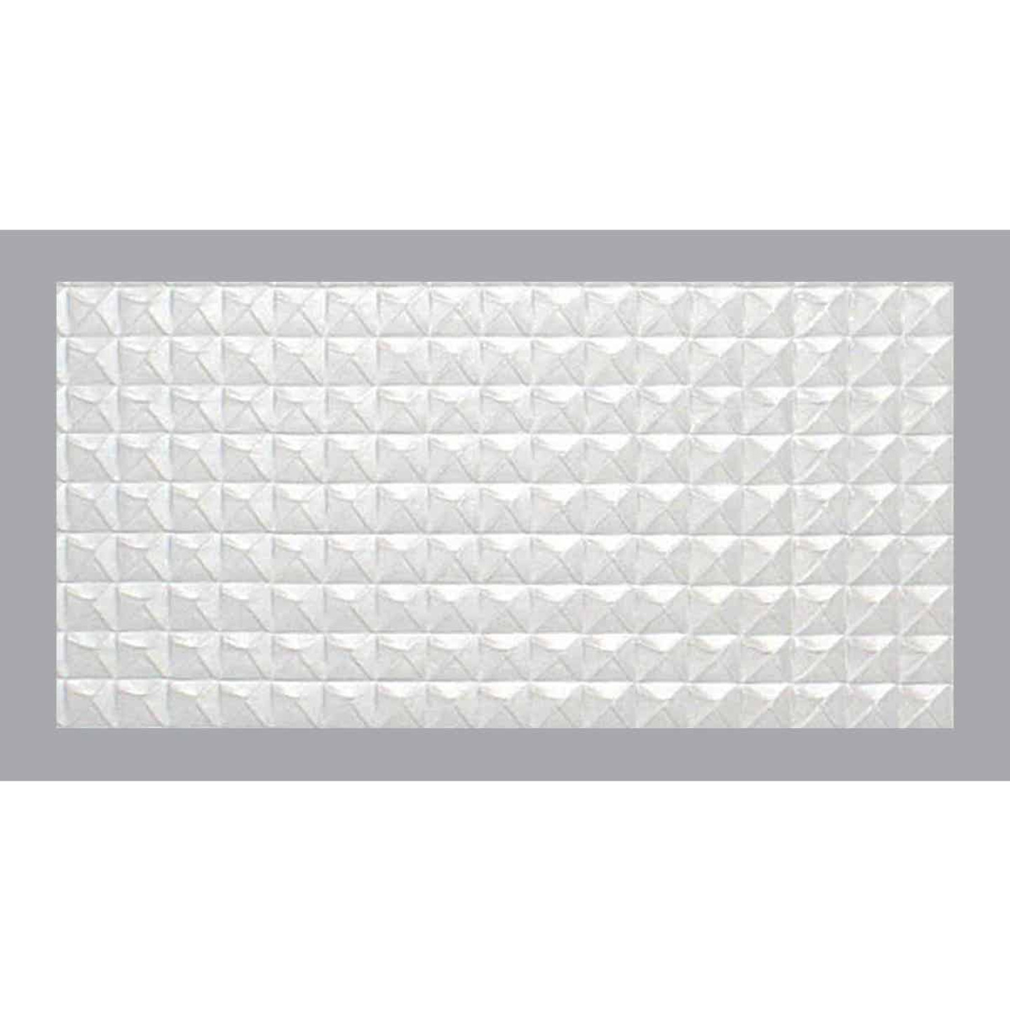 Parkland Performance SpectraTile Millennium 2 Ft. x 4 Ft. White PVC Diamond Pyramid Suspended Ceiling Tile  Image 1
