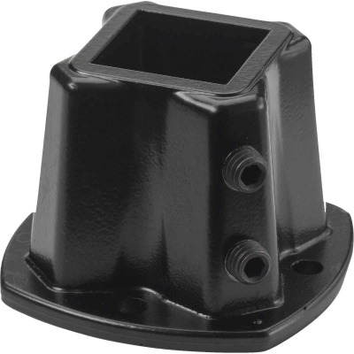 Gilpin Windsor Plus 1-1/4 In. Square Black Aluminum Floor Post Flange