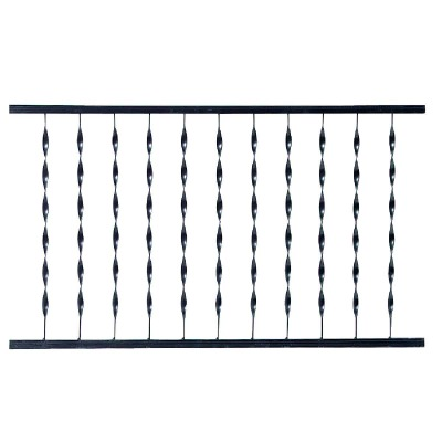 Gilpin Windsor Plus 32 In. H. x 6 Ft. L. Wrought Iron Railing