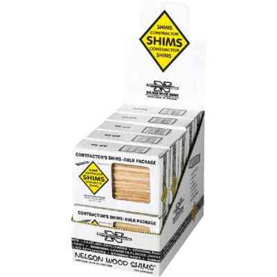 Nelson Wood Shims 8 In. L Beddar Shims (56-Count)