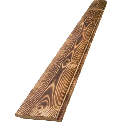UFP-Edge 6 In. W x 4 Ft. L x 1 In. Thick Charred Wood Shiplap Board (4-Pack)