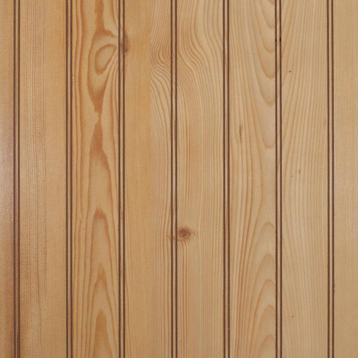 Global Product Sourcing 4 Ft. x 8 Ft. x 1/8 In. Knotty Pine Beaded Profile Wall Paneling Image 1