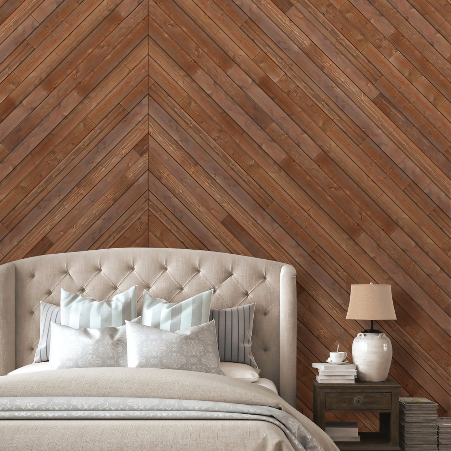 Global Product Sourcing 3-1/2 In. W. x 1/4 In. Thick Solid Wood Brown Reclaimed Wood Wall Plank Image 2