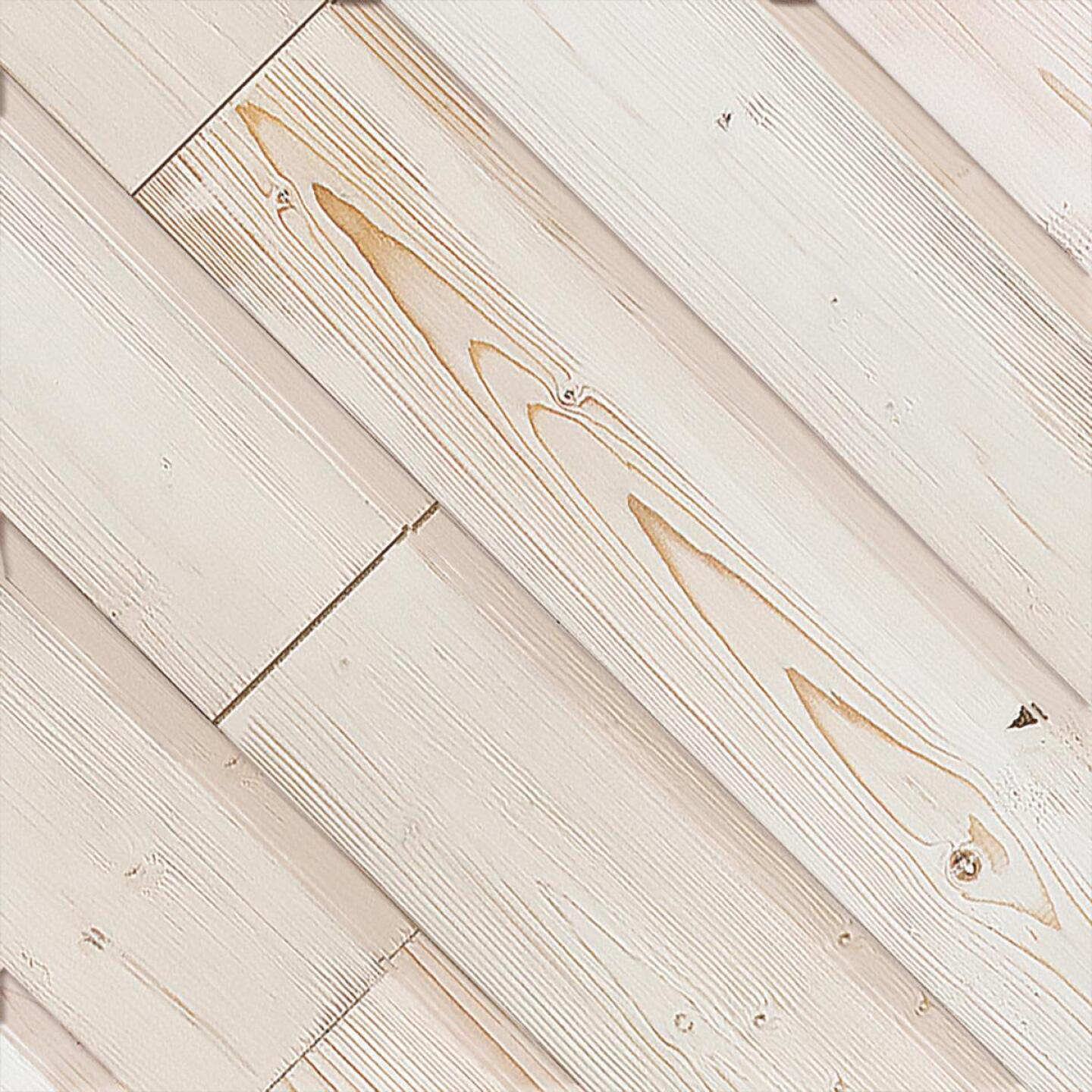 Global Product Sourcing 5.375 In. W x 5/16 In. Thick White Reclaimed Wood Shiplap Board Image 1