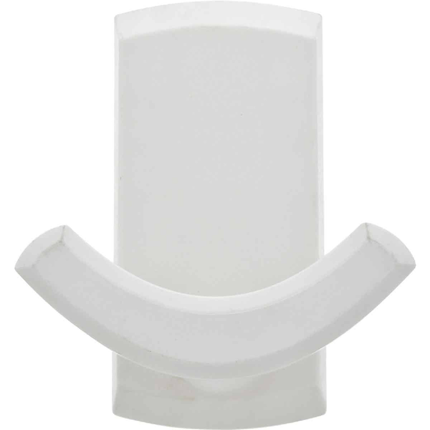 Hillman High and Mighty 20 Lb. Capacity White Rectangular Decorative Double Hook Image 2