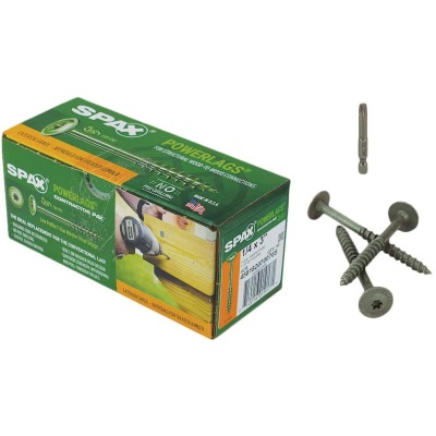 Spax PowerLags 1/4 In. x 3 In. Washer Head Exterior Structure Screw (50 Ct.)