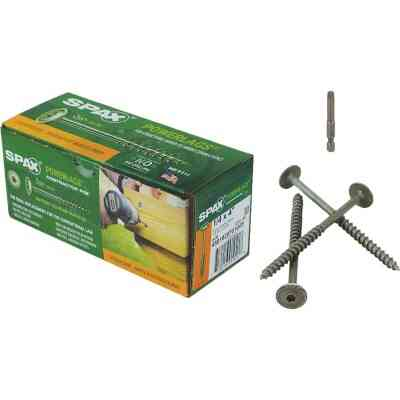 Spax PowerLags 1/4 In. x 4 In. Washer Head Exterior Structure Screw (50 Ct.)