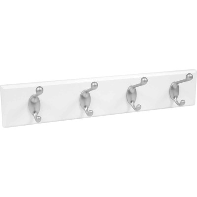 High and Mighty 18 In. 30 Lb Capacity White Hook Rail