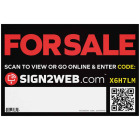 Sign2Web 12 In. x 18 In. Single-Sided For Sale Sign Image 1