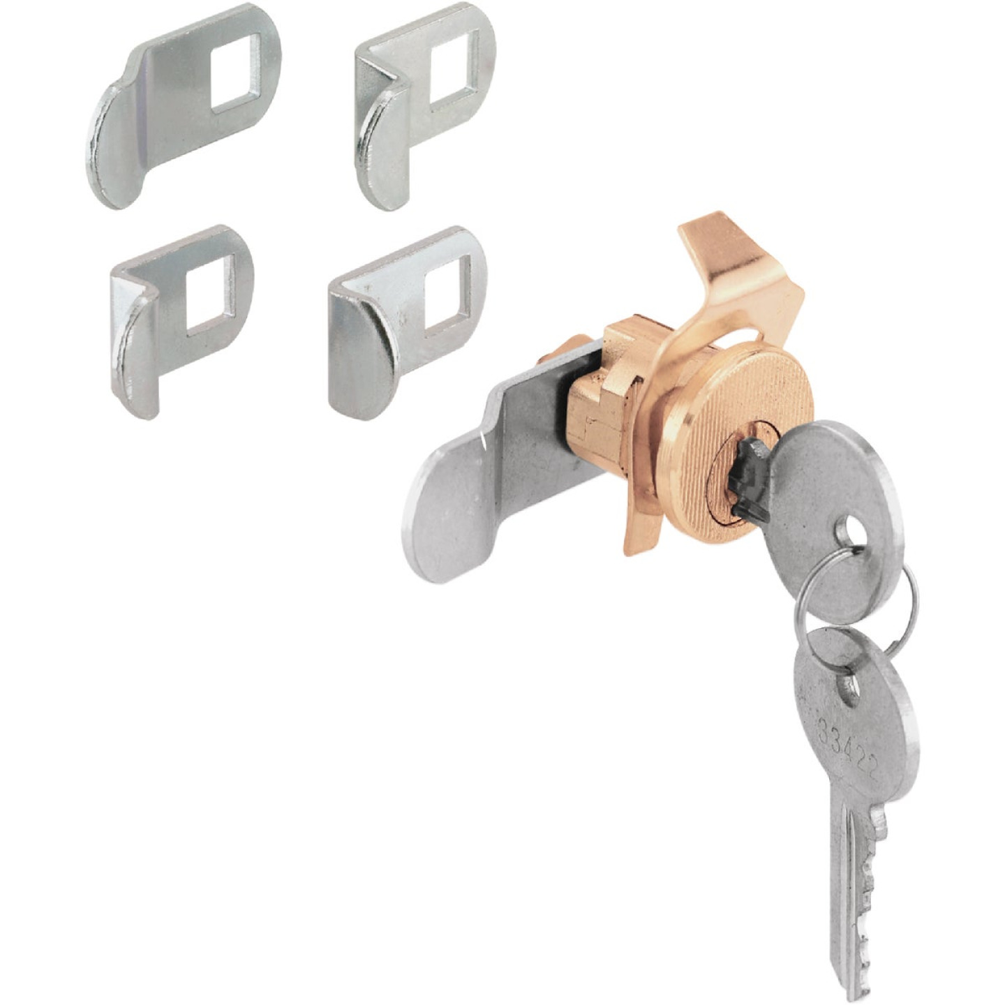 Defender Security Brass Multi-Purpose Mailbox Lock Image 1