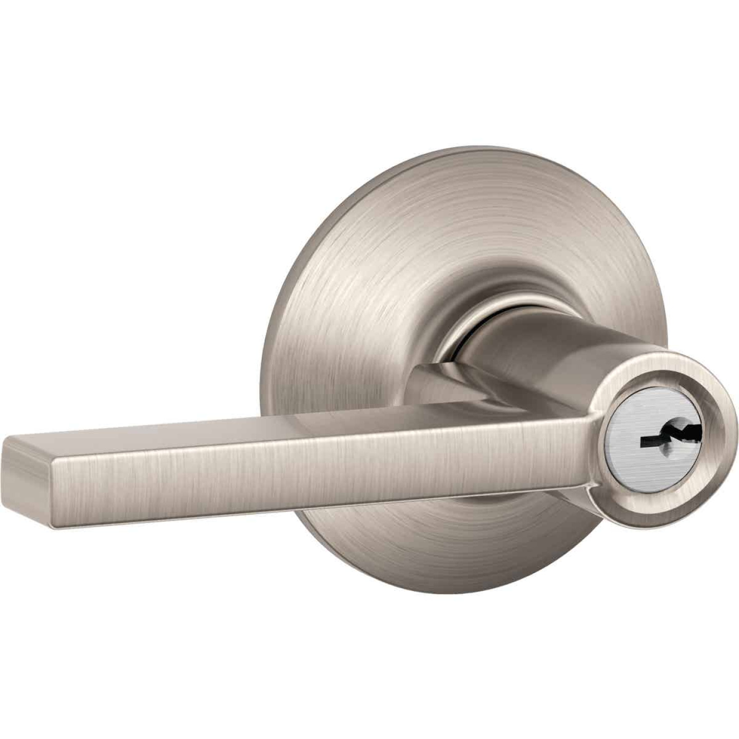 Schlage Latitude Satin Nickel Keyed Entry Door Lever Image 1