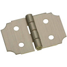 National 5/8 In. x 1 In. Antique Brass Decorative Hinge (2-Pack) Image 1