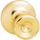 Steel Pro Polished Brass Hall & Closet Door Knob Image 1