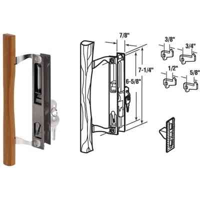 Prime-Line Flush Mount Hook Sliding Patio Door Handle Set