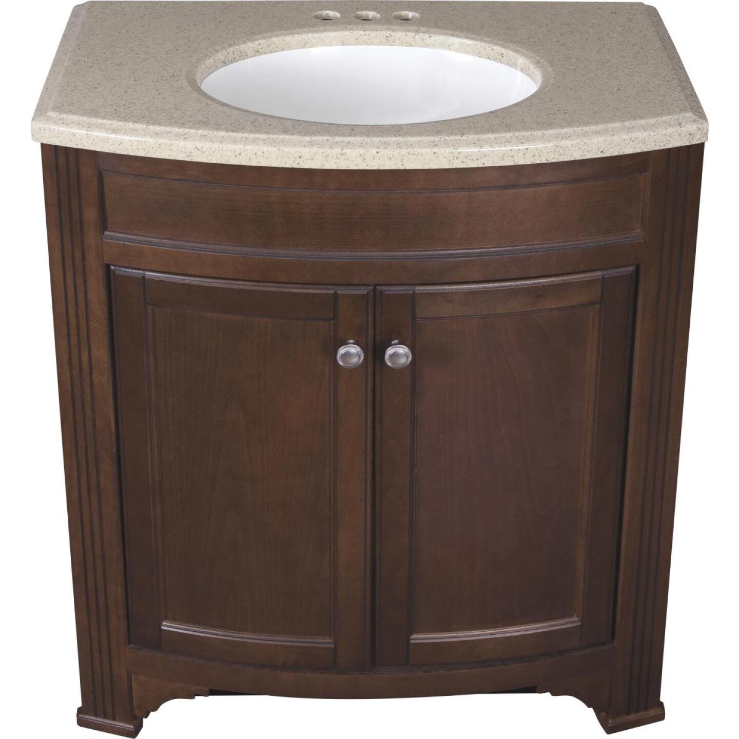 Continental Cabinets Duvall Cafe Black Glaze 30-3/4 In. W x 34-3/4 In. H x 18-1/2 In. D Vanity with Top Image 2