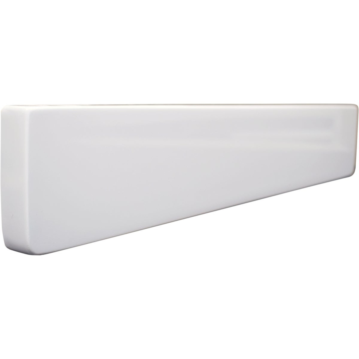 Modular Vanity Tops 4 In. H x 22 In. L Solid White Cultured Marble Side Splash, Universal Image 1