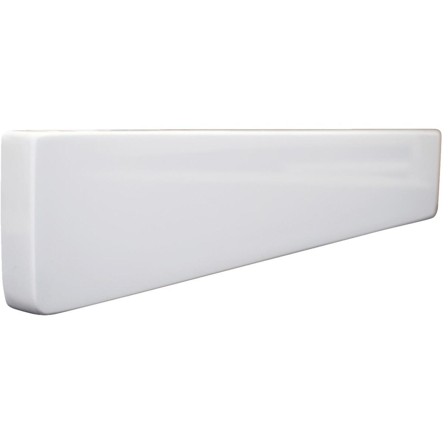 Modular Vanity Tops 4 In. H x 19 In. L Solid White Cultured Marble Side Splash, Universal Image 1