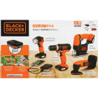 Black & Decker 4-Tool 12 Volt MAX Lithium-Ion Drill/Driver, Jig Saw, Detail Sander & Work Light GoPak Cordless Tool Combo Kit Image 2