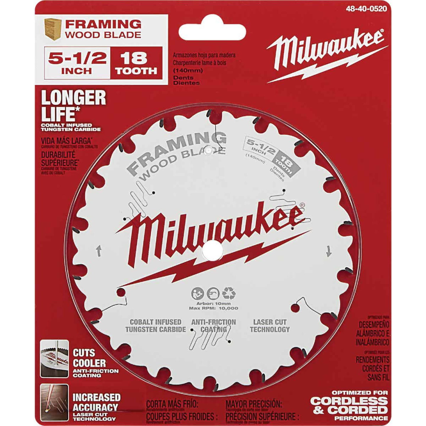 Milwaukee 5-1/2 In. 18-Tooth Framing Circular Saw Blade Image 2
