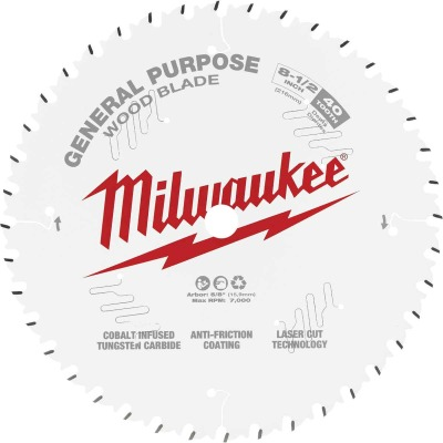 Milwaukee 8-1/2 In. 40-Tooth General Purpose Wood Circular Saw Blade