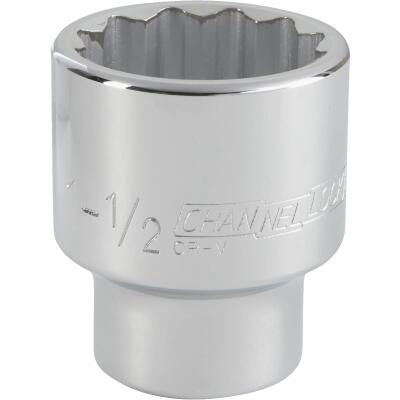 Channellock 3/4 In. Drive 1-1/2 In. 12-Point Shallow Standard Socket
