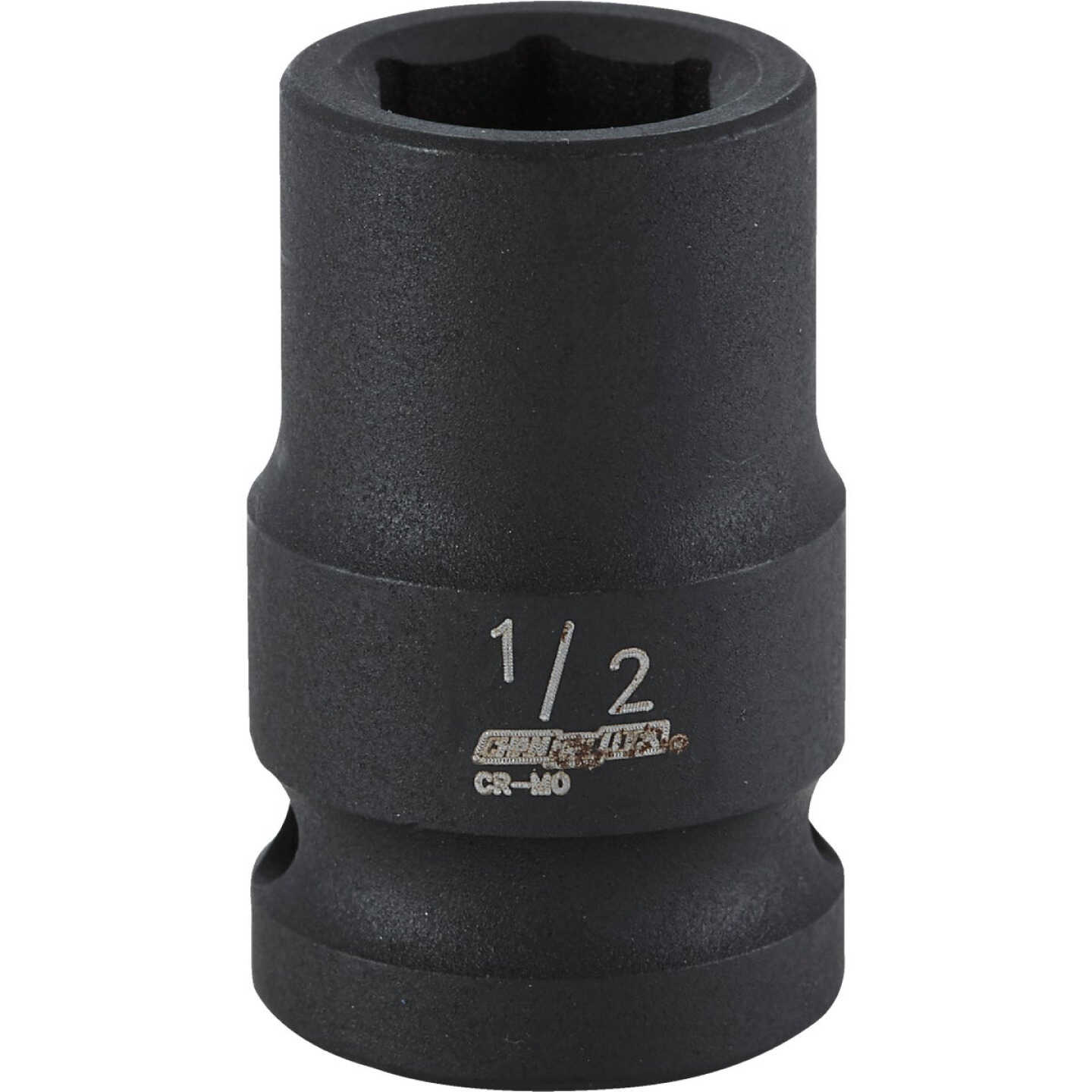 Channellock 1/2 In. Drive 1/2 In. 6-Point Shallow Standard Impact Socket Image 1