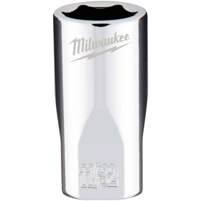 Milwaukee 1/4 In. Drive 11/32 In. 6-Point Shallow Standard Socket with FOUR FLAT Sides