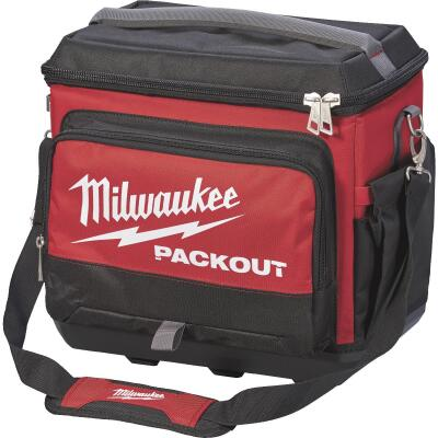 Milwaukee PACKOUT 5-Compartment Soft-Side Cooler, Black & Red