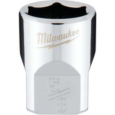 Milwaukee 3/8 In. Drive 5/8 In. 6-Point Shallow Standard Socket with FOUR FLAT Sides