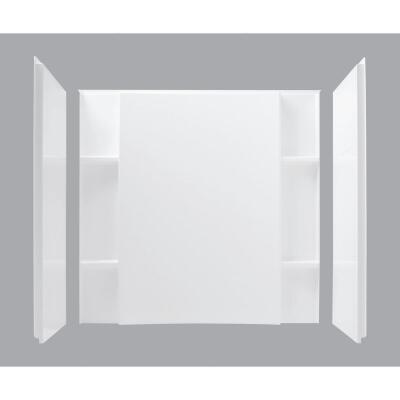 Sterling 3-Piece 60 In. W. x 74-1/2 In. H. x 36 In. D. White Shower Wall Set