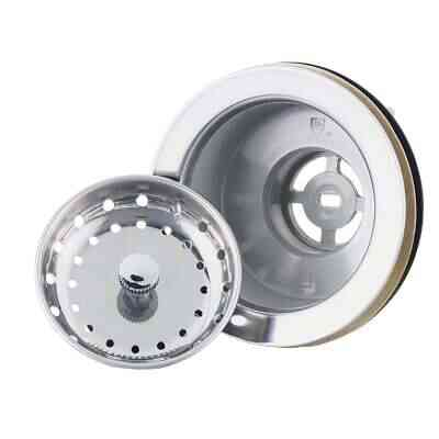 Do it Imperial 3-1/2 In. to 4 In. Stainless Steel Rim & Basket Fixed Post Basket Strainer Assembly