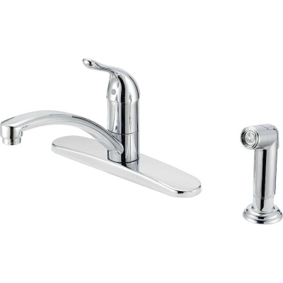 Home Impressions Single Handle Lever Kitchen Faucet with Side Spray, Chrome
