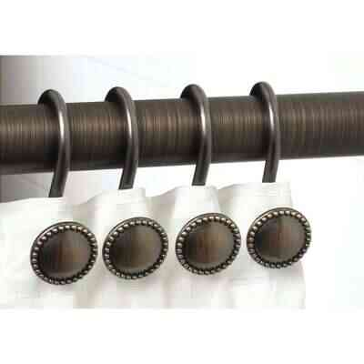 Zenith Oil Rubbed Bronze Decorative Shower Curtain Hook (12 Count)