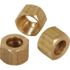 Do it 1/4 In. OD Brass Compression Nut (3-Pack) Image 1