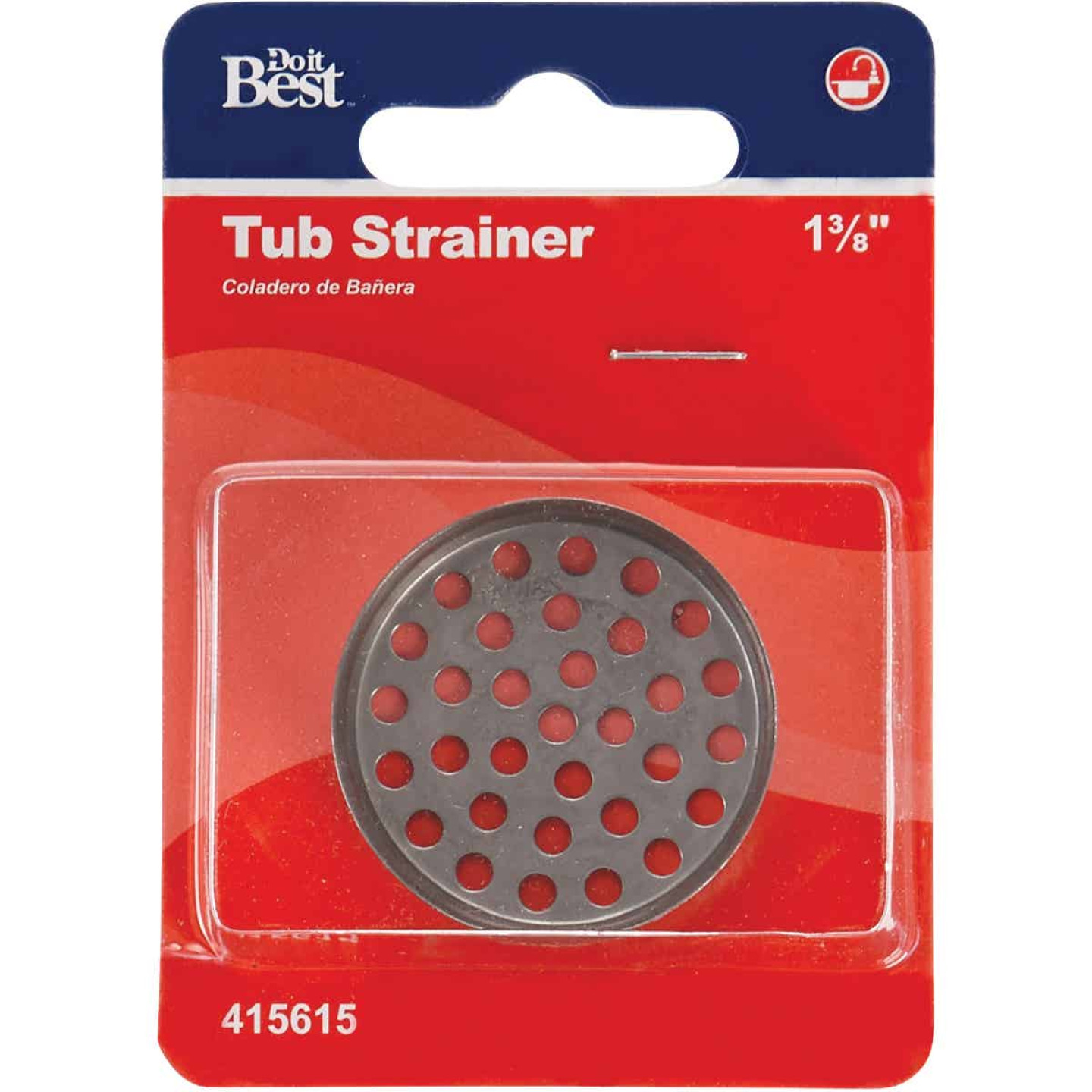 Do it 1-3/8 In. Removable Tub Drain Strainer with Chrome Plated Finish Image 2