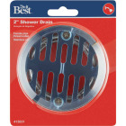 Do it 2 In. Cast Brass Shower Drain with 3-1/2 In. Stainless Steel Strainer Image 2