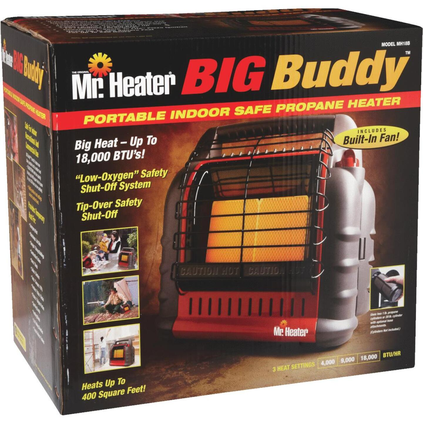 MR. HEATER 18,000 BTU Radiant Big Buddy Propane Heater Image 3