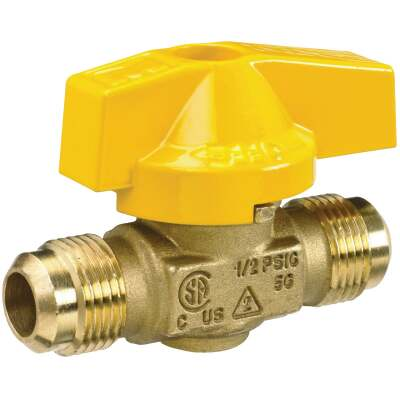 ProLine 3/8 Flare x 3/8 In. Flare Brass Gas Ball Valve