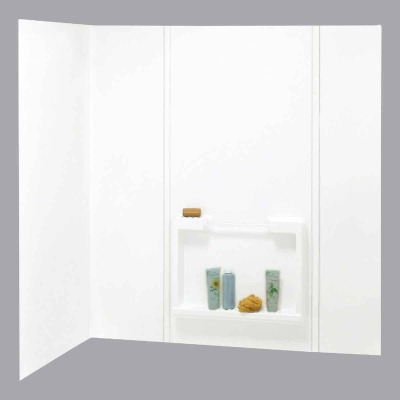 Maax Suez 5-Piece 59 In. H x 31 In. D Tub Wall Kit in White
