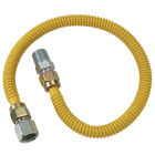 Dormont 1/2 In. OD x 60 In. Coated Stainless Steel Gas Connector, 1/2 In. FIP x 1/2 In. MIP (Tapped 3/8 In. FIP) Image 1