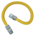 Dormont 5/8 In. OD x 36 In. Coated Stainless Steel Gas Connector, 3/4 In. FIP x 3/4 In. MIP (Tapped 1/2 In. FIP) Image 1
