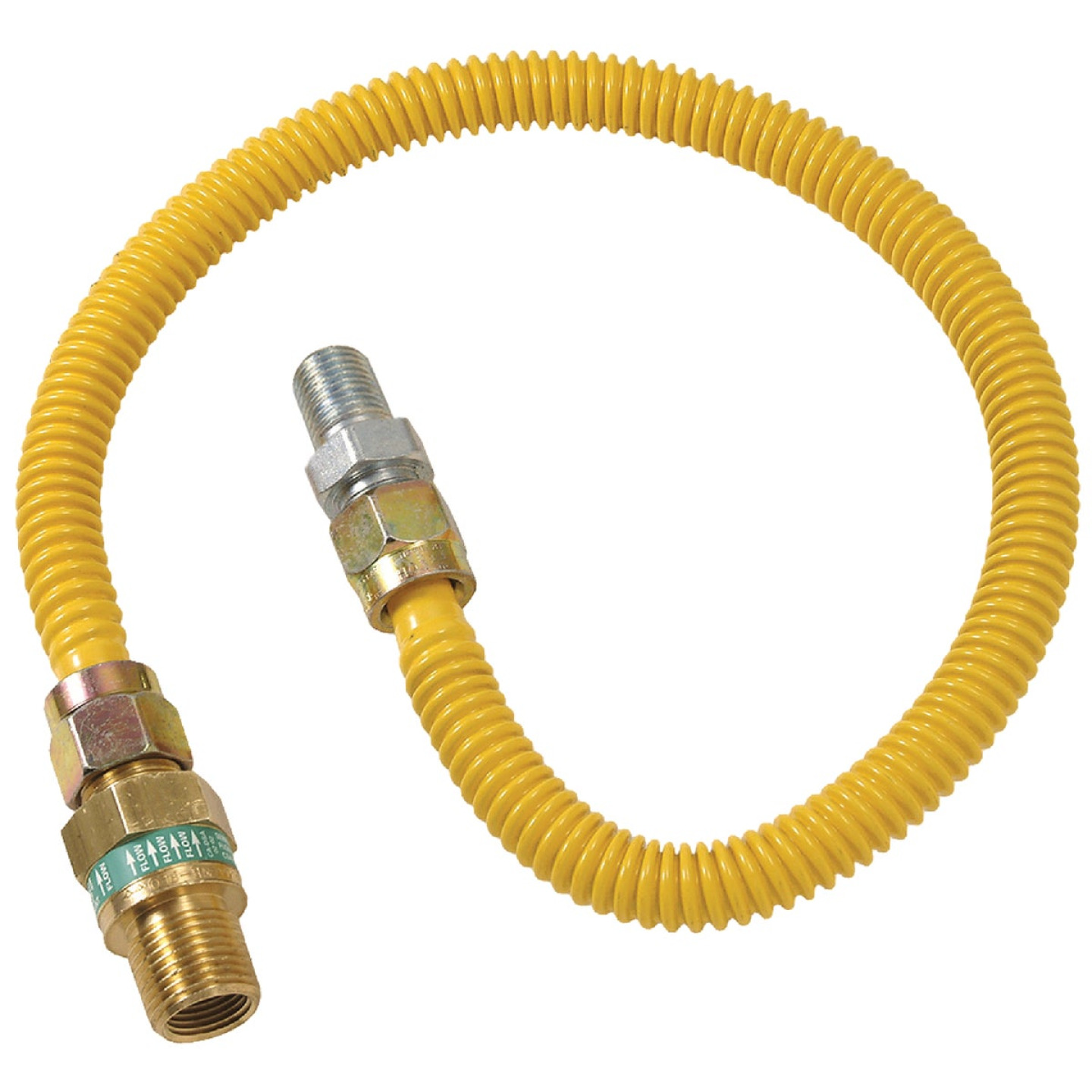 Dormont 1/2 In. OD x 60 In. Coated Stainless Steel Gas Connector, 1/2 In. MIP (Tapped 3/8 In. FIP) x 1/2 In. MIP SmartSense Image 1