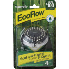 Waterpik EcoFlow 3-Spray 1.6 GPM Fixed Showerhead, Chrome Image 2
