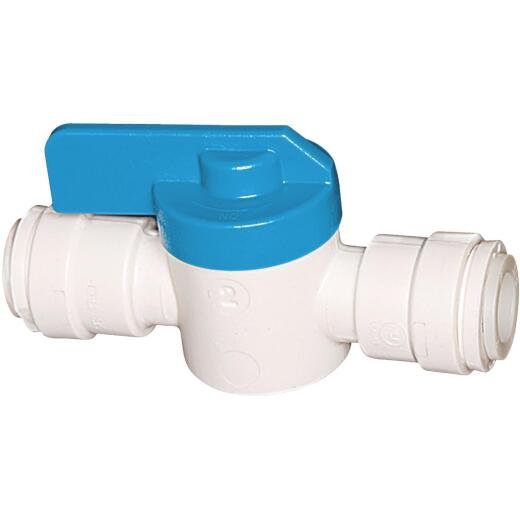 Watts 1/4 In. OD X 1/4 In. QC Plastic Plastic Push Valve