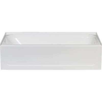 Mustee Topaz 60 In. L x 30 In. W x 16-1/2 In. D Right Drain Bathtub in White