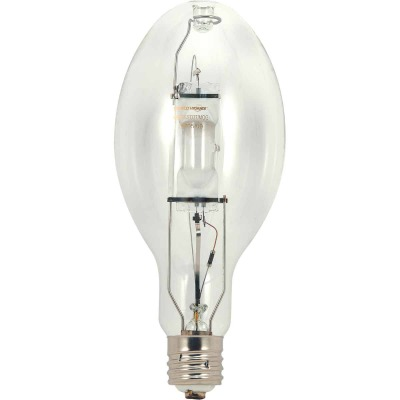 Satco 175W Clear ED28 Mogul Screw Metal Halide High-Intensity Light Bulb