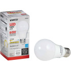 Satco 60W Equivalent Warm White A19 Medium Dimmable LED Light Bulb Image 1